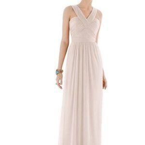 Alfred Sung V-Neck Ivory Bridesmaid Dress